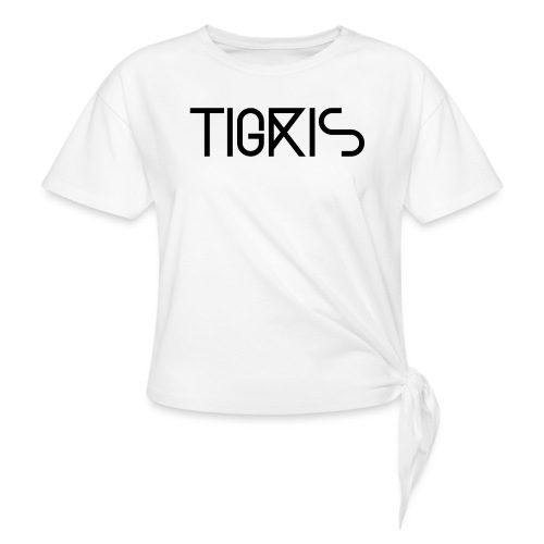 Tigris Vector Text Black - Knotted T-Shirt
