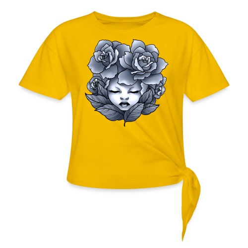Flower Head - T-shirt à nœud Femme