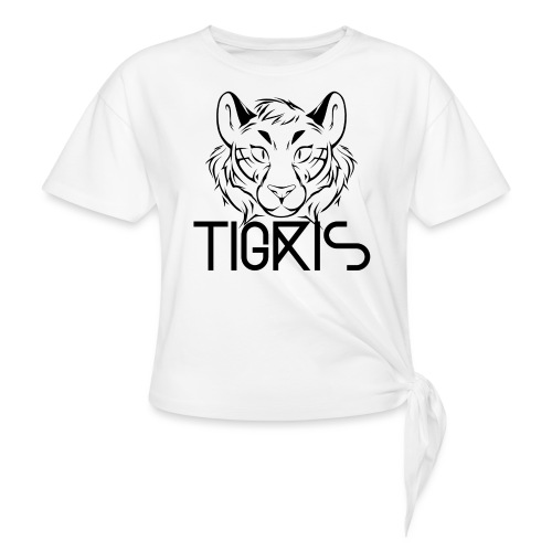 Tigris Logo Picture Text Black - Knotted T-Shirt