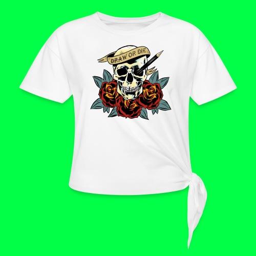 draw or die - T-shirt à nœud