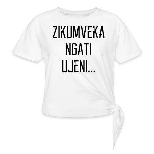 Zikumveka Ngati Black - Knotted T-Shirt