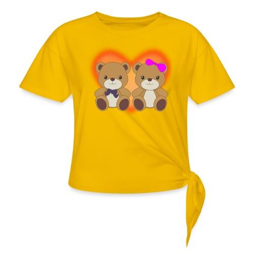 Orsetti con cuore - Maglietta annodata da donna
