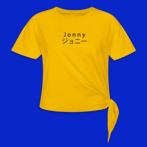 J o n n y (black) - Knotted T-Shirt
