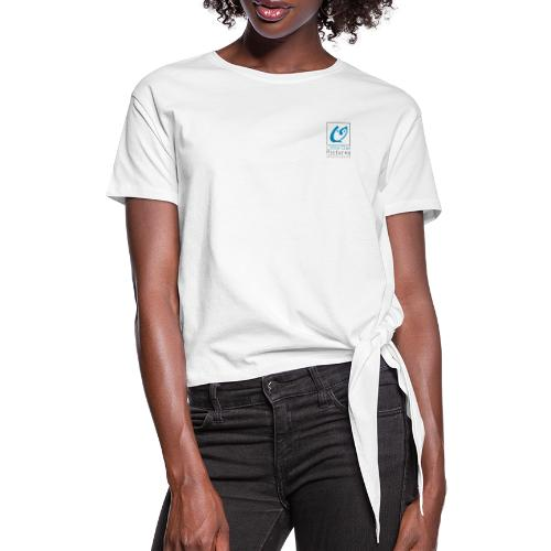 Little Owl Pictures Logo (schwarz/blau) - Frauen Knotenshirt