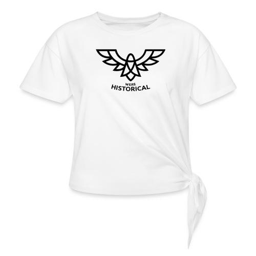 Text & Logo - Women's Knotted T-Shirt