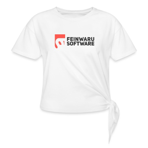 Feinwaru Full Logo - Women's Knotted T-Shirt