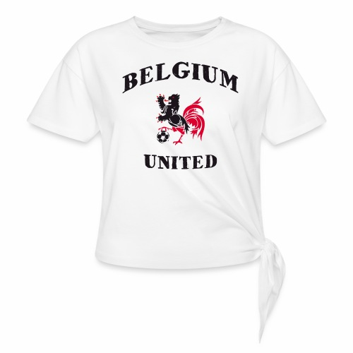 Belgium Unit - Women's Knotted T-Shirt