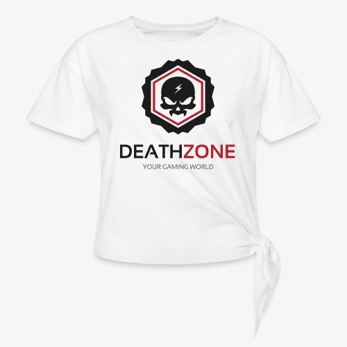DeathZone Logo Avatar - Koszulka damska z wiązaniem