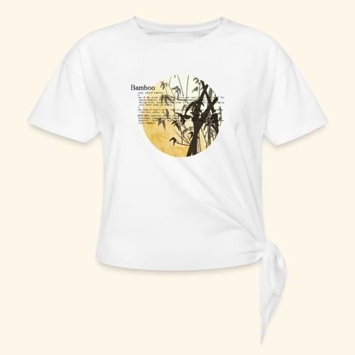 Bamboo - T-shirt med knut dam