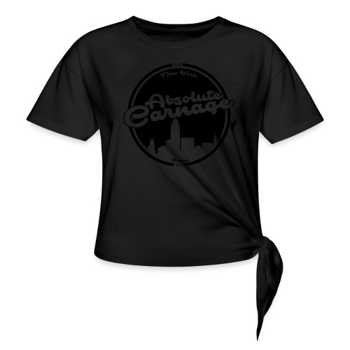 Absolute Carnage - Black - Women's Knotted T-Shirt