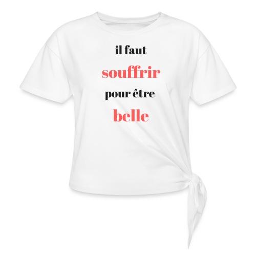 choix de vie - T-shirt à nœud