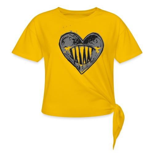 Corazón Negro - Camiseta con nudo