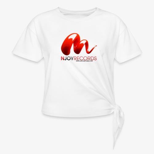 Logo Njoy Records Noir - T-shirt à nœud