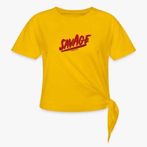 savagjonssongang - T-shirt med knut dam