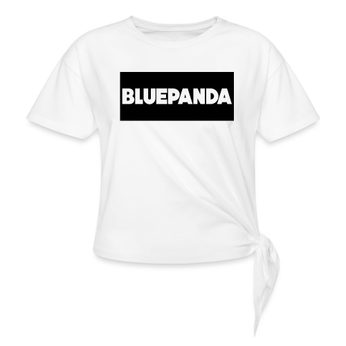 BLUE PANDA - Knotted T-Shirt