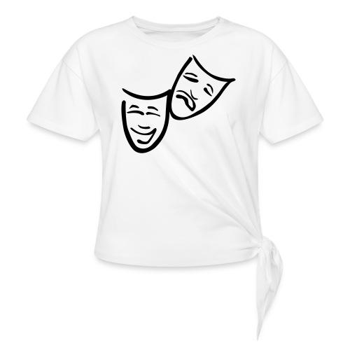 Theatermasken - Knotenshirt