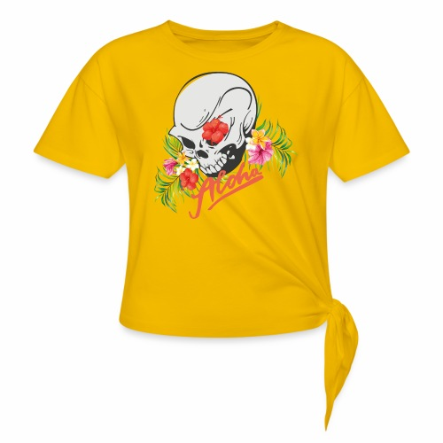 Hawaiian Skull Aloha Surfer Design - Knotenshirt