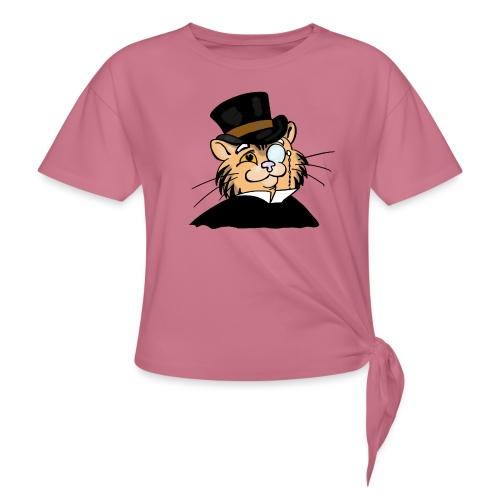 Gatto nonno - Maglietta annodata da donna