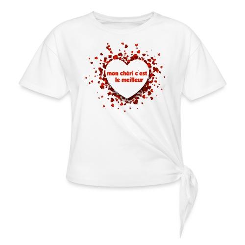 Mon cherie tasse - T-shirt à nœud Femme