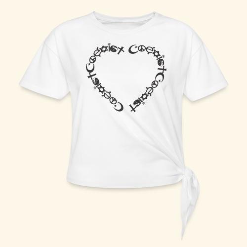 Coexit en coeur - T-shirt à nœud