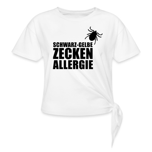 Schwarz-Gelbe Zeckenallerie - Knotenshirt