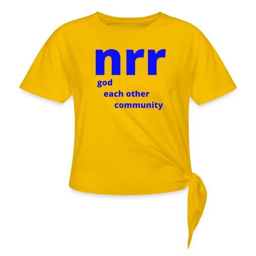 NEARER logo - Women's Knotted T-Shirt