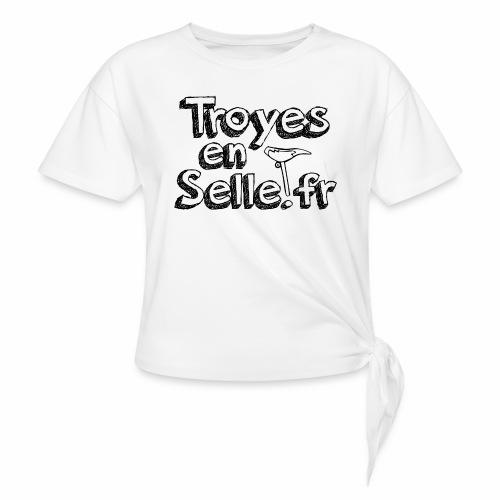 logo Troyes en Selle noir - T-shirt à nœud