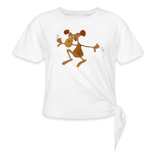 elch huepft - Knotenshirt