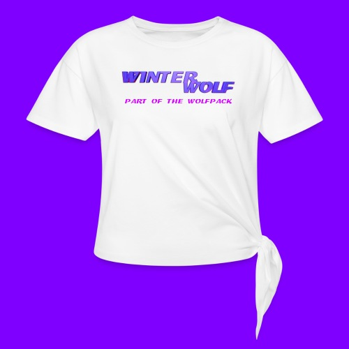 WINTERWOLF LOGO Part of The Wolfpack T-shirt - Vrouwen Geknoopt shirt