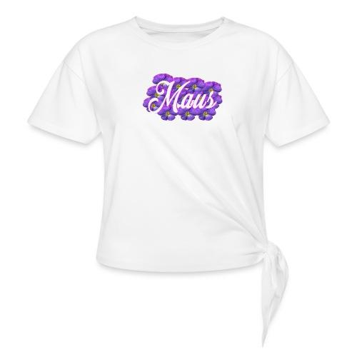 MAUS Vrouwen Opgerolde Mouwen - Vrouwen Geknoopt shirt