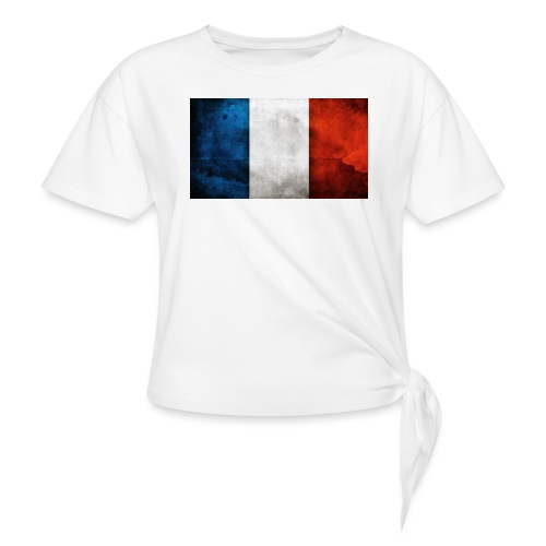 France Flag - Knotted T-Shirt