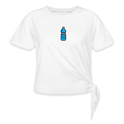 Bottlenet Tshirt Grijs - Vrouwen Geknoopt shirt