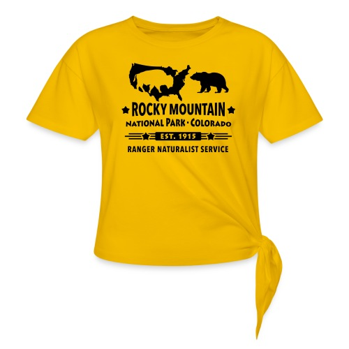 Rocky Mountain Nationalpark Berg Bison Grizzly Bär - Knotted T-Shirt