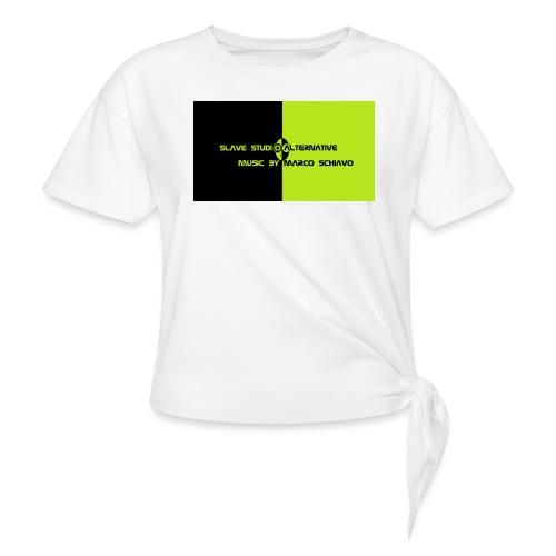 Channel_Art_Template_ufo_youtube_pt_4 - Maglietta annodata da donna