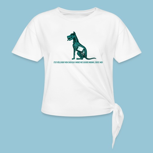 T-shirt pour homme imprimé Chien au Rayon-X - T-shirt à nœud