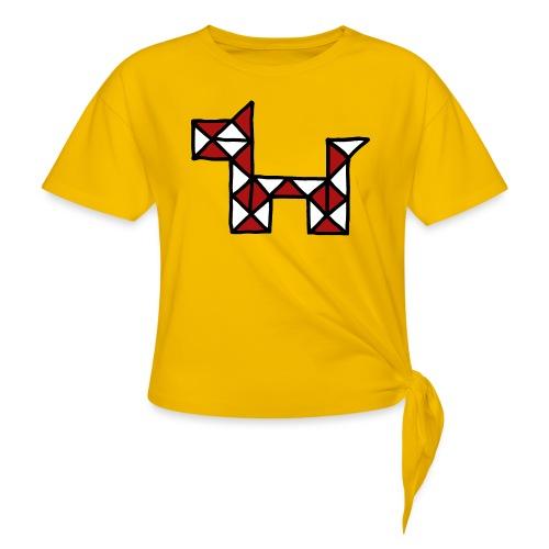Dog pet twist puzzle toy best friend - Women's Knotted T-Shirt