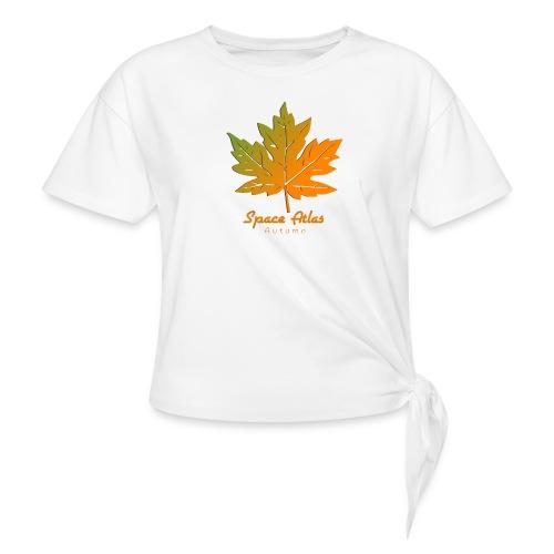 Space Atlas Long Sleeve T-shirt Autumn Leaves - Knot-shirt