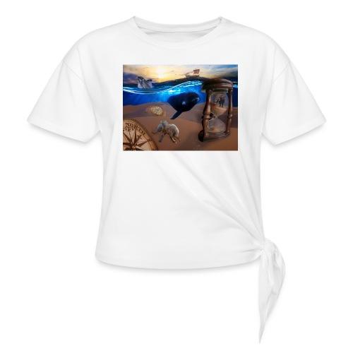 Wodne Przemyślenia - Koszulka damska z wiązaniem