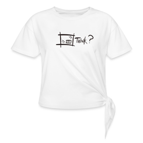 Think Outside The Box - Knotted T-Shirt