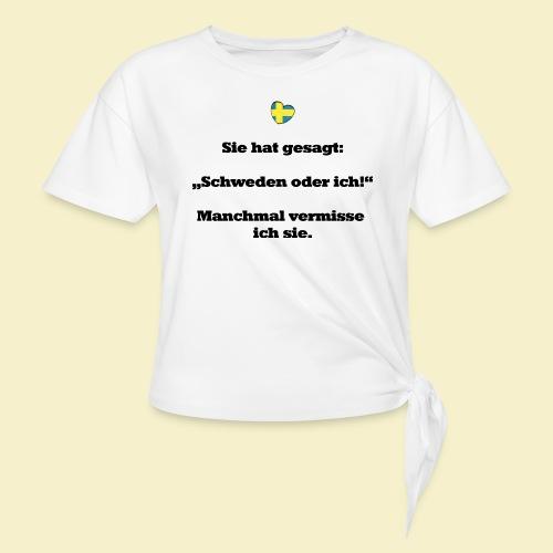 T-Shirt Schweden Herz schwarz für ihn - Knotenshirt