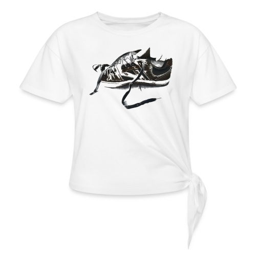 shoe (Saw) - Women's Knotted T-Shirt