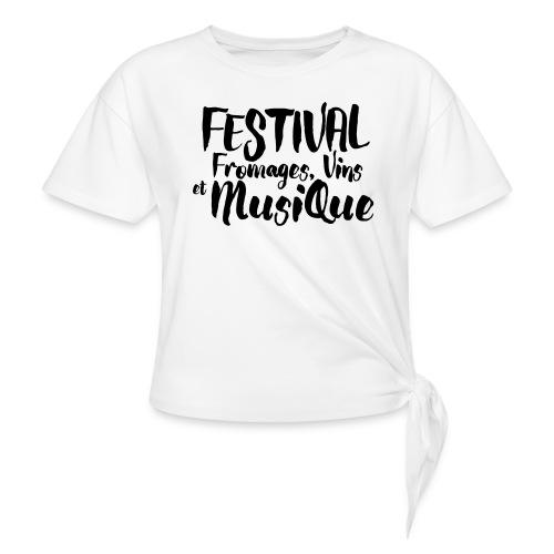 Festival Fromages, Vins et Musique - T-shirt à nœud