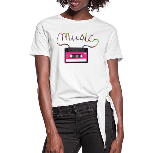 cassette retro - Camiseta con nudo mujer