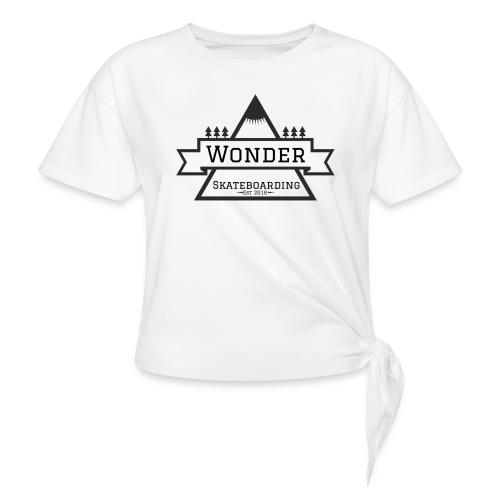 Wonder T-shirt: mountain logo - Dame knot-shirt