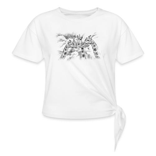 les girafes bavardes - T-shirt à nœud Femme