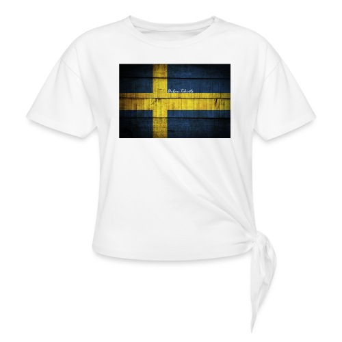 swedish-flag - T-shirt med knut