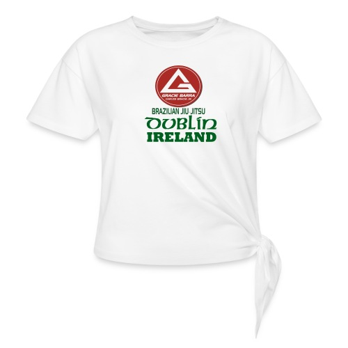 Gracie Barra Dublin Gaelic Celtic Font PNG - Knotted T-Shirt