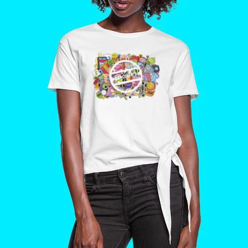 maglia logo doodle - Maglietta annodata