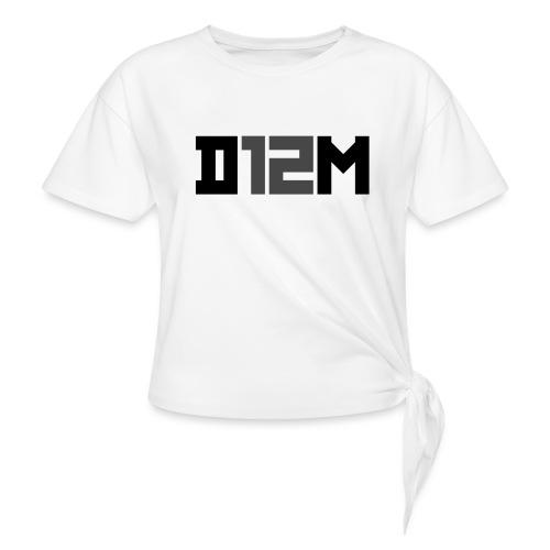 D12M: SHORT BLACK - Geknoopt shirt