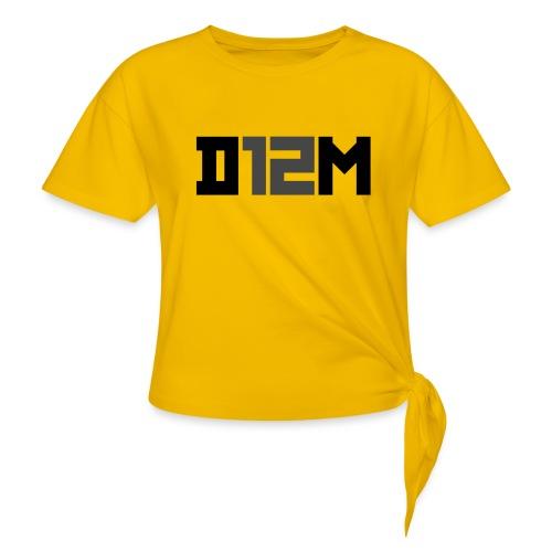 D12M: SHORT BLACK - Vrouwen Geknoopt shirt